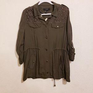 Forever21 Casual Jacket Long Sleeve Olive
